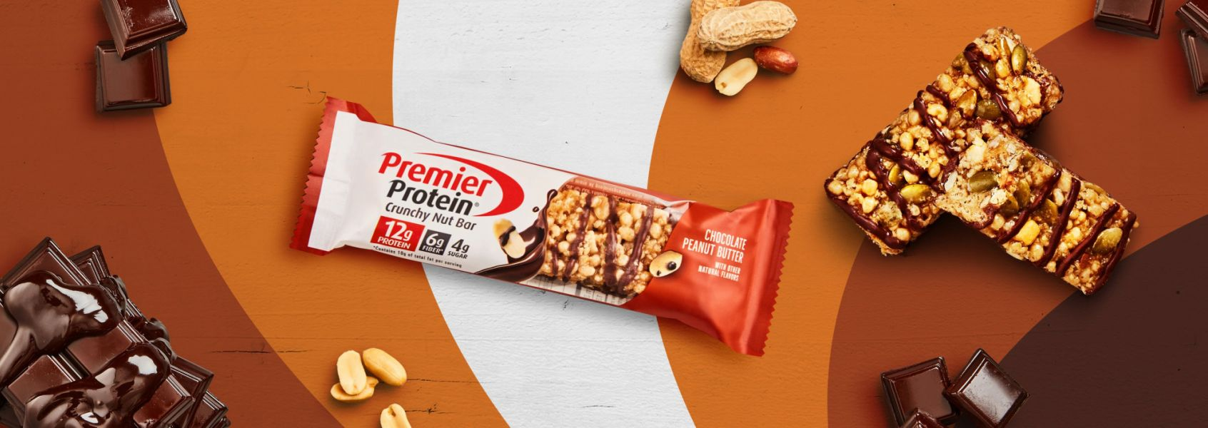 A photo of Premier Protein 12g Chocolate Peanut Butter Protein Bar