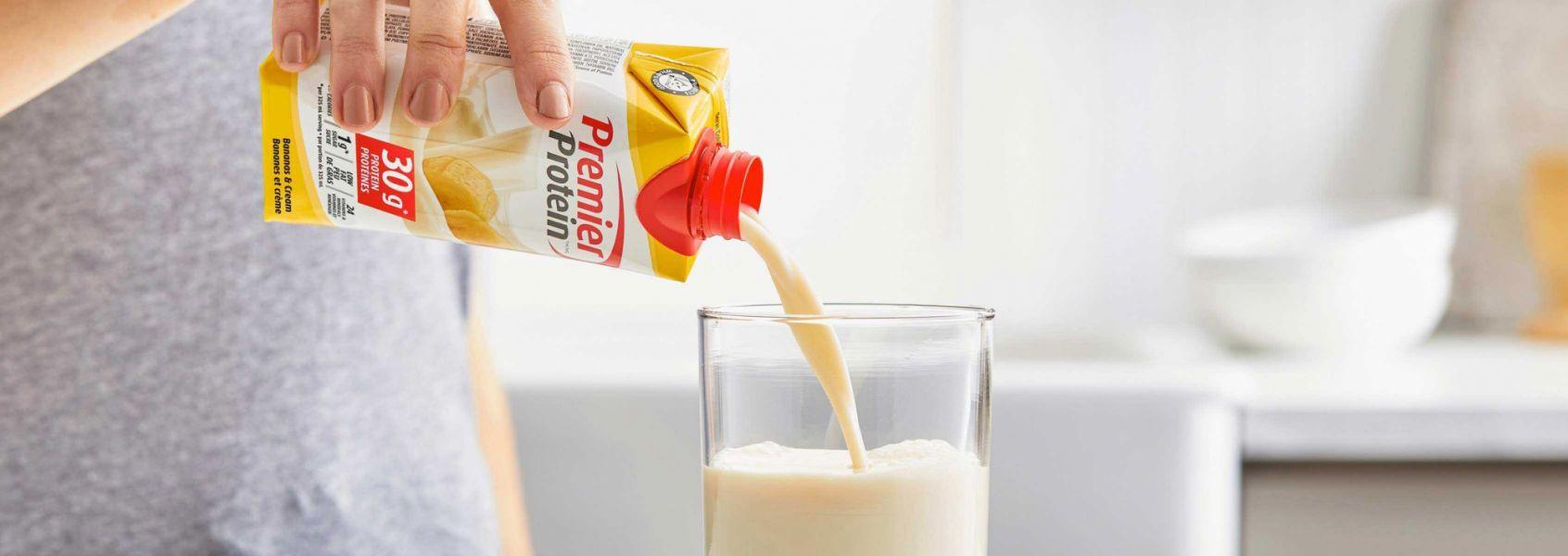 A photo of Premier Protein Bananas & Cream Protein Shake