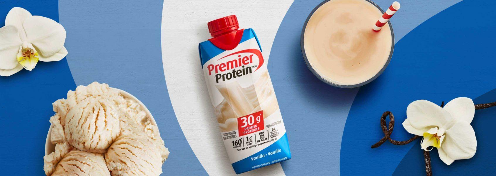 A photo of Premier Protein Vanilla Protein Shake