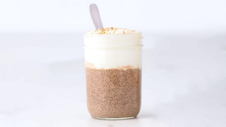 Café Latte Chia Pudding