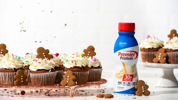Recipe image for: Gingerbread Protein Cupcakes with Cream Cheese Frosting