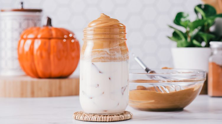 Recipe image for: Pumpkin Spice Dalgona Coffee