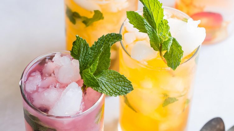 Recipe image for: Iced Protein Drinks With Fresh Mint