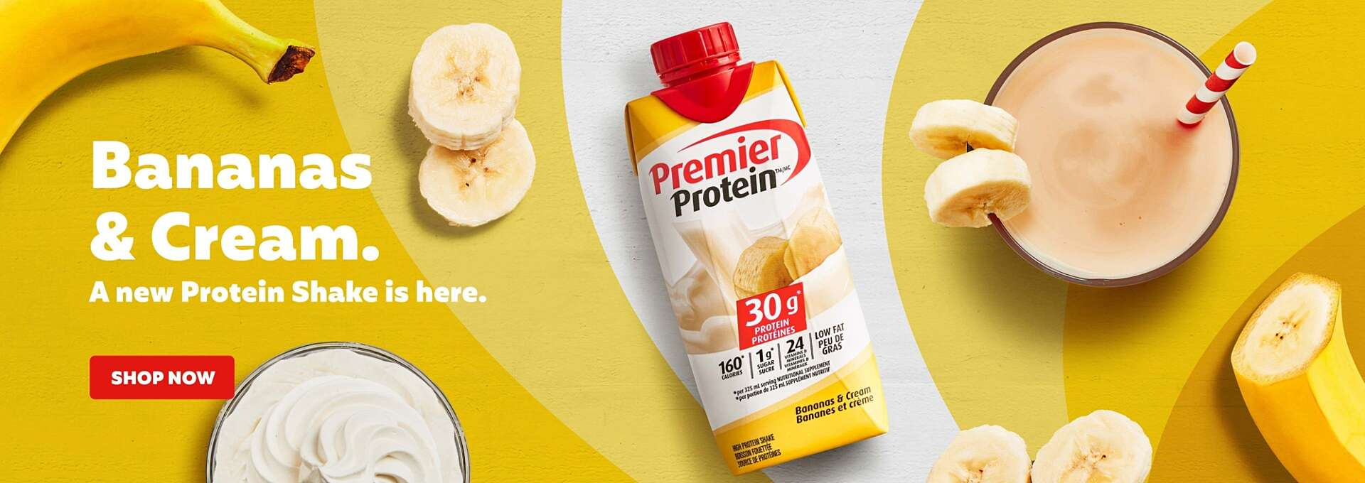 Bananas & Cream. A new protein shake is here.
