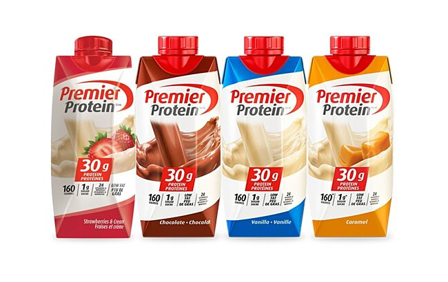 Premier Protein Product Spread