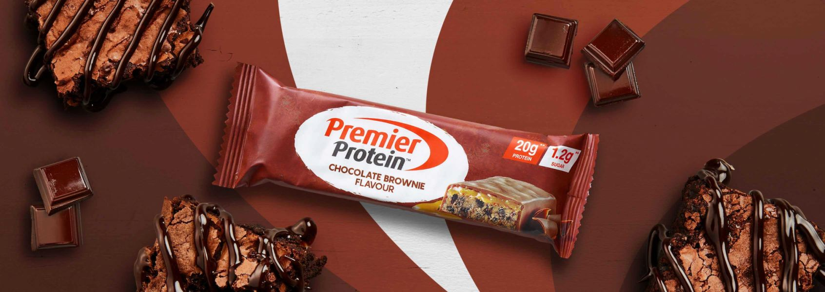 A photo of Premier Protein Chocolate Brownie Protein Bar