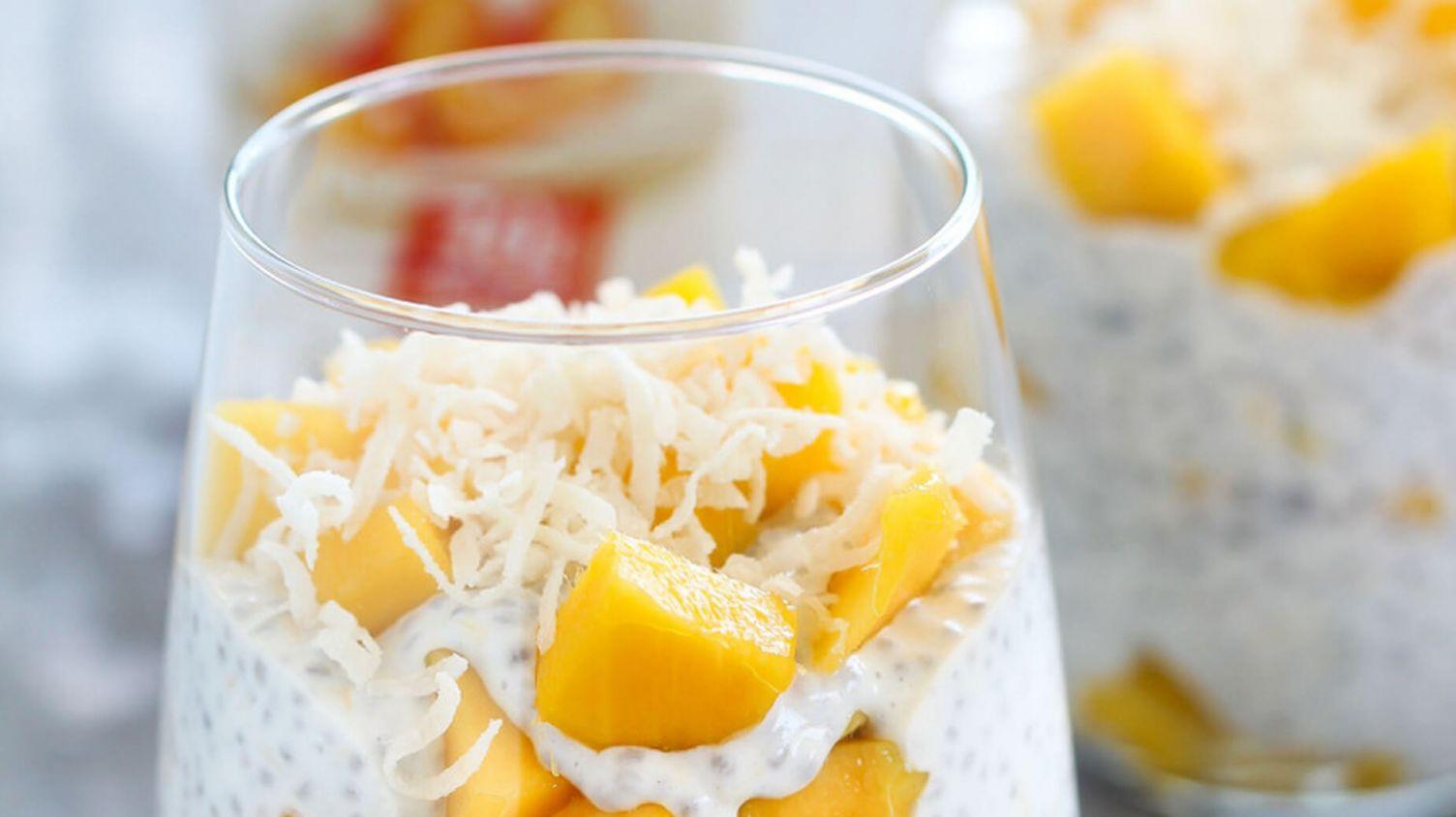 Peaches & Cream Chia Pudding