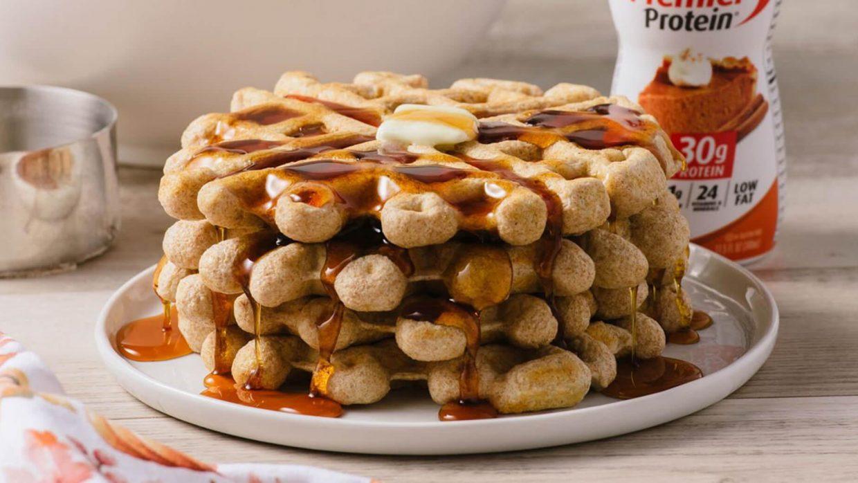 Premier Protein September Pumpkin Spice Waffles