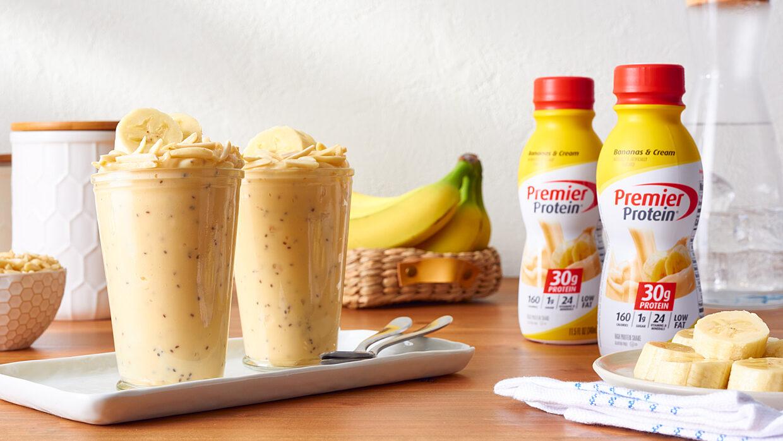 Premier Social June Web banana cheesecake parfait