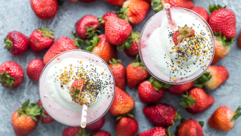 Recipe Strawberry Protein Shake With Vanilla Whipped Cream 1