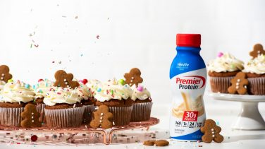 Featured image for Gingerbread Protein Cupcakes with Cream Cheese Frosting
