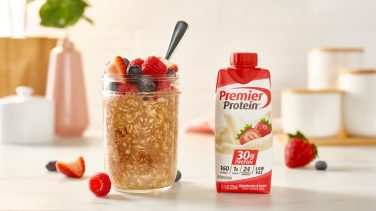 Featured image for High Protein Berry Overnight Oats