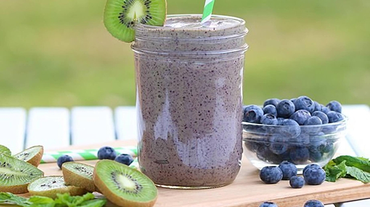 Recipe image for: Blueberry Mint Smoothie