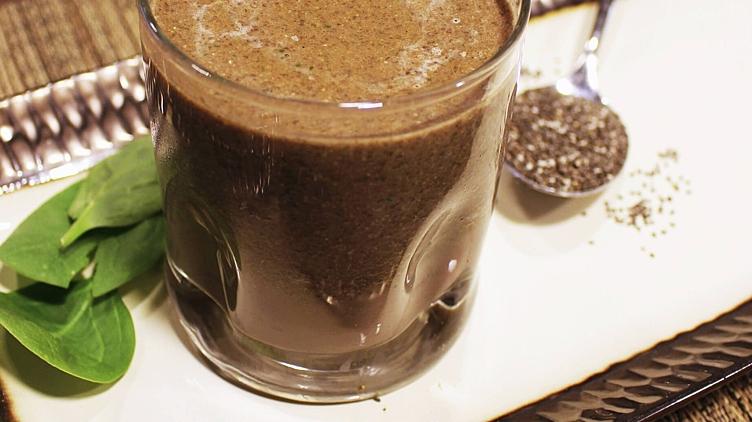 Image de recette pour: Smoothie au chocolat et au chia
