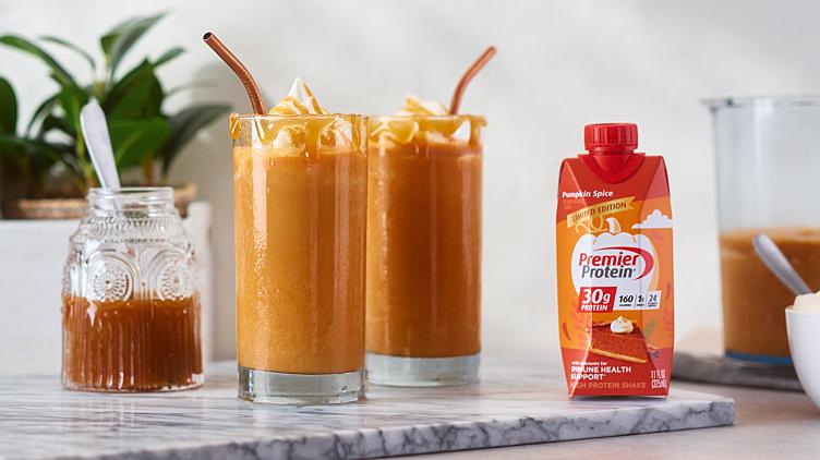 Recipe image for: Frozen Caramel Pumpkin Latte