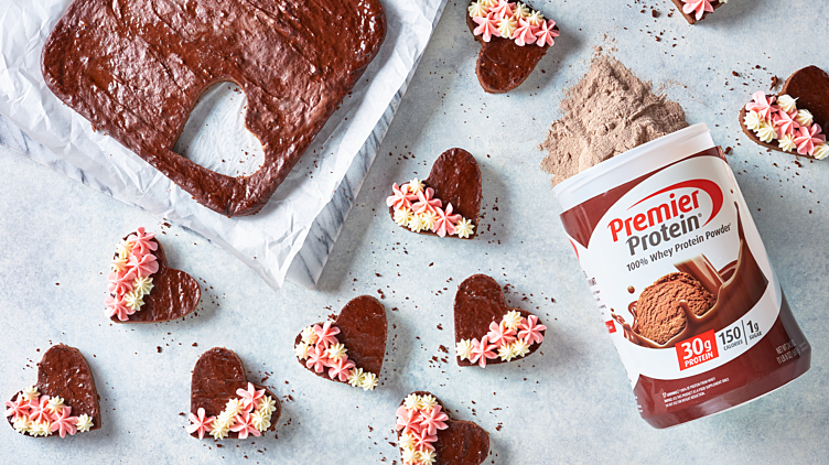 Recipe image for: Chocolate Protein Valentine Brownies