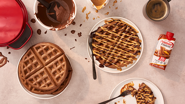 Recipe image for: Chocolate Protein Waffles