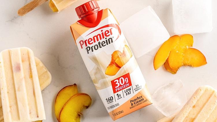 Recipe image for: Peaches & Cream Popsicles